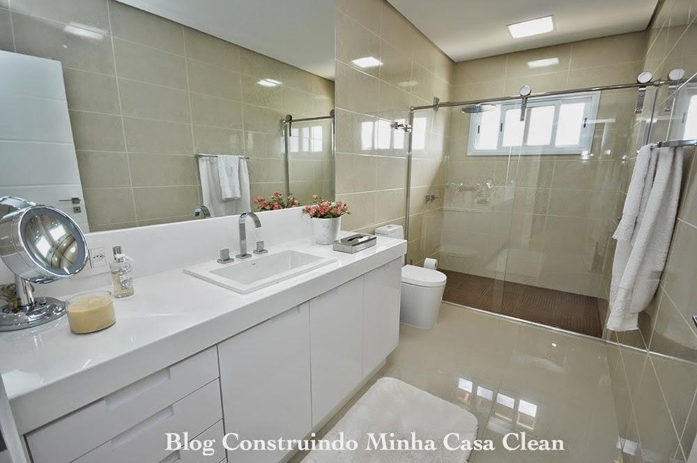 Construindo Minha Casa Clean Top 10 Banheiros Modernos Pequenos e Grandes p -> Banheiros Grandes Modernos