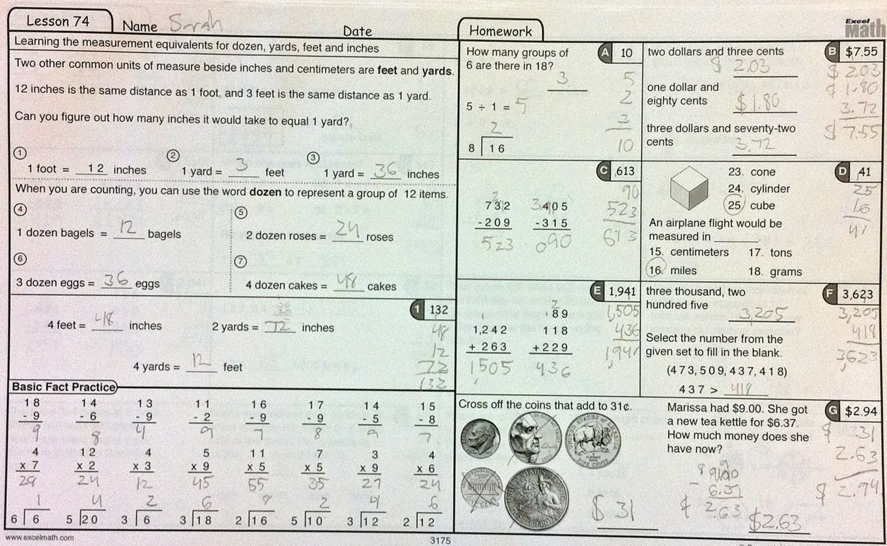 Worksheets Excel Math Worksheets how handwriting boosts the math brain excel grade 3 lesson sheet from math
