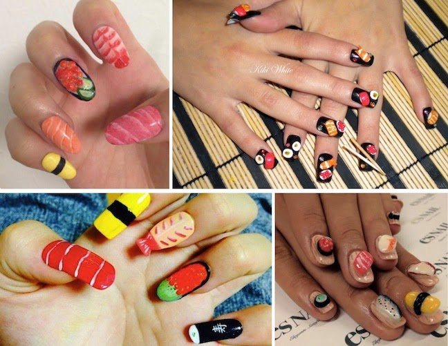 beauty trend sushi nail art