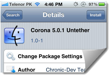Download Corona 5.0.1 Untethered Jailbreak For A4 Devices