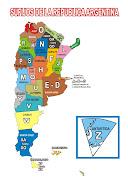 Provincias de la Republica Argentina, con su identificacion por la primera . republica argentina