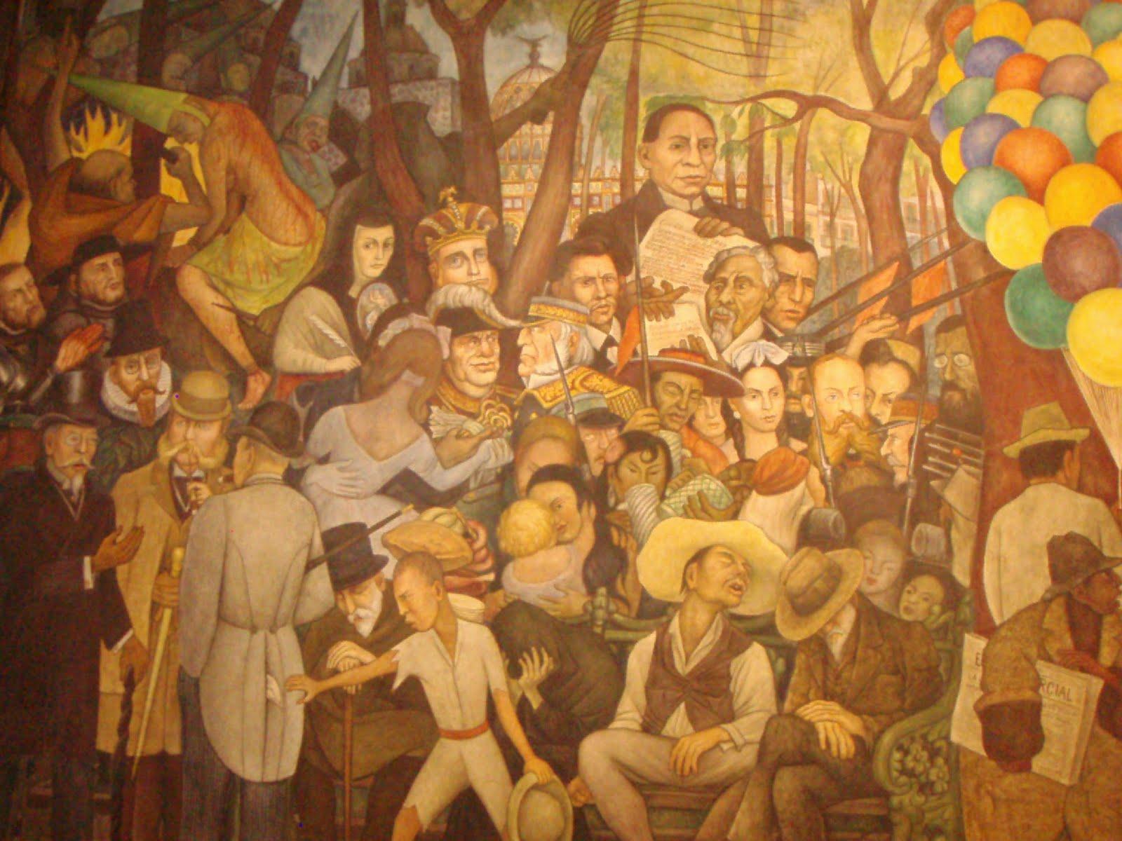 El abogado del diablo un domingo en la alameda por for Un mural de diego rivera