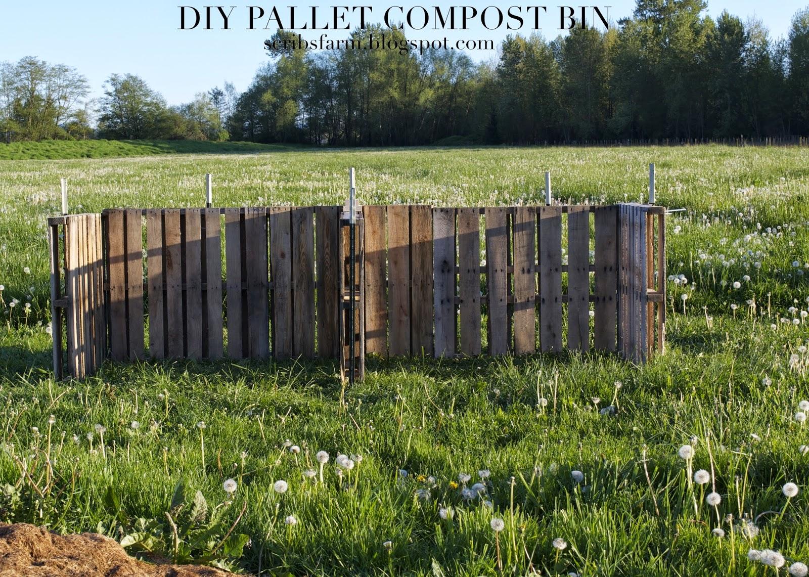 6 pallet compost bin