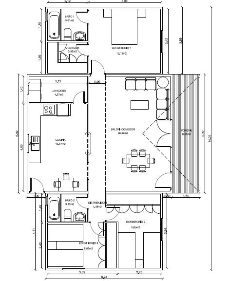 Casas prefabricadas de madera en mexico tattoo design bild - Planos casa madera ...