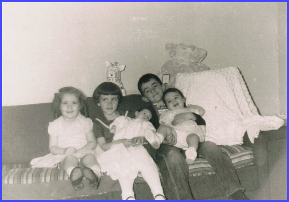 Yvonne with her cousins in 1959