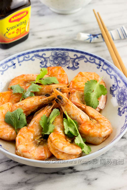 美極蝦 Pan-fried Shrimps in Maggi Sauce01