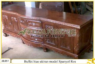 Buffet hias model ukiran spanyol ros