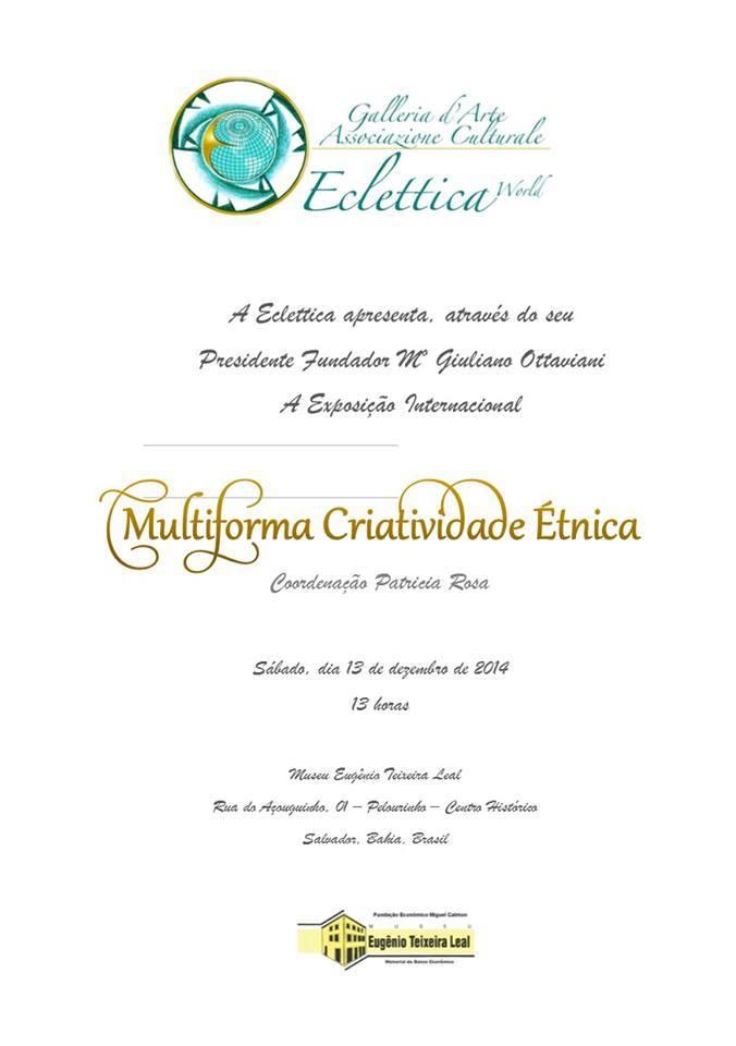 4 - Exposição Internacional Multiforma Criatividade Étnica.