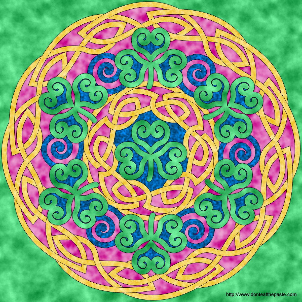 Dont Eat The Paste Shamrock Mandala