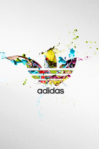 Adidas Logo Colorful  Paints iPhone Wallpaper