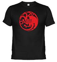 camiseta casa Targaryen - Juego de Tronos en los siete reinos