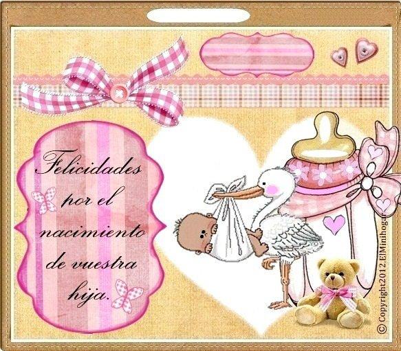 Tarjetas para felicitar por la llegada de un bebé - Imagui