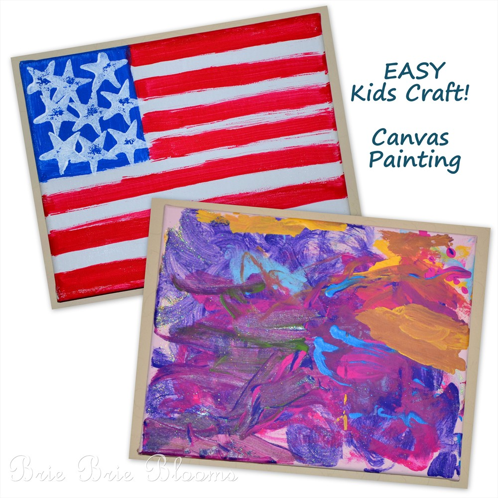 Kids Craft Canvas Painting And Potato Stamps Video Tutorial On