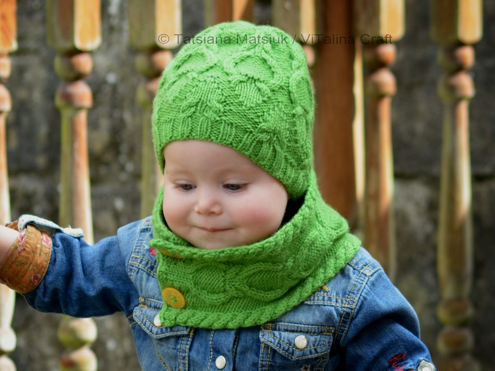 Rainforest Hat and Cowl Set Knitting Pattern | ViTalina Craft