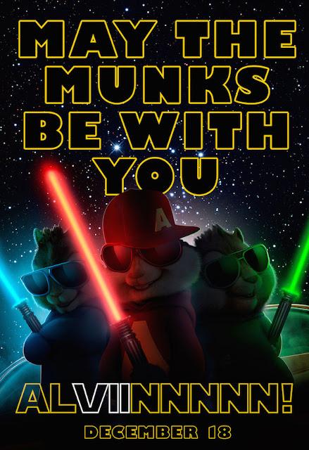 Nuevo póster de 'Alvin y las ardillas: Viaje sobre ruedas' en plan 'Star Wars'