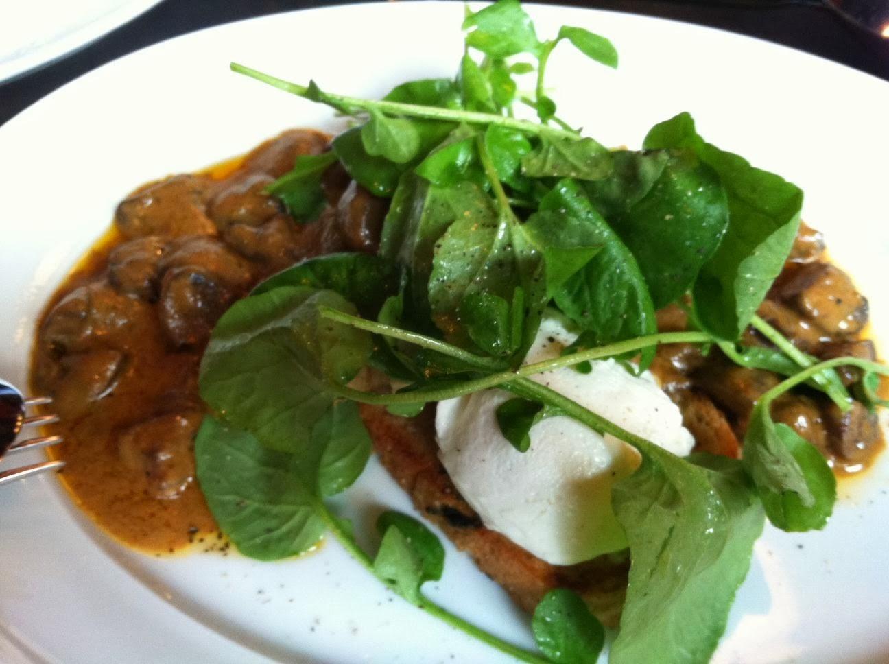 Deviled Mushrooms On Toast Recipe — Dishmaps