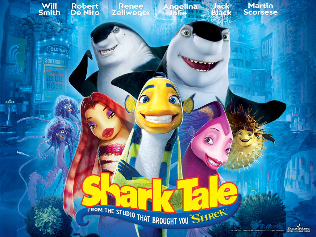 New animation world free download shark tale 2004 for Fish cartoon movie