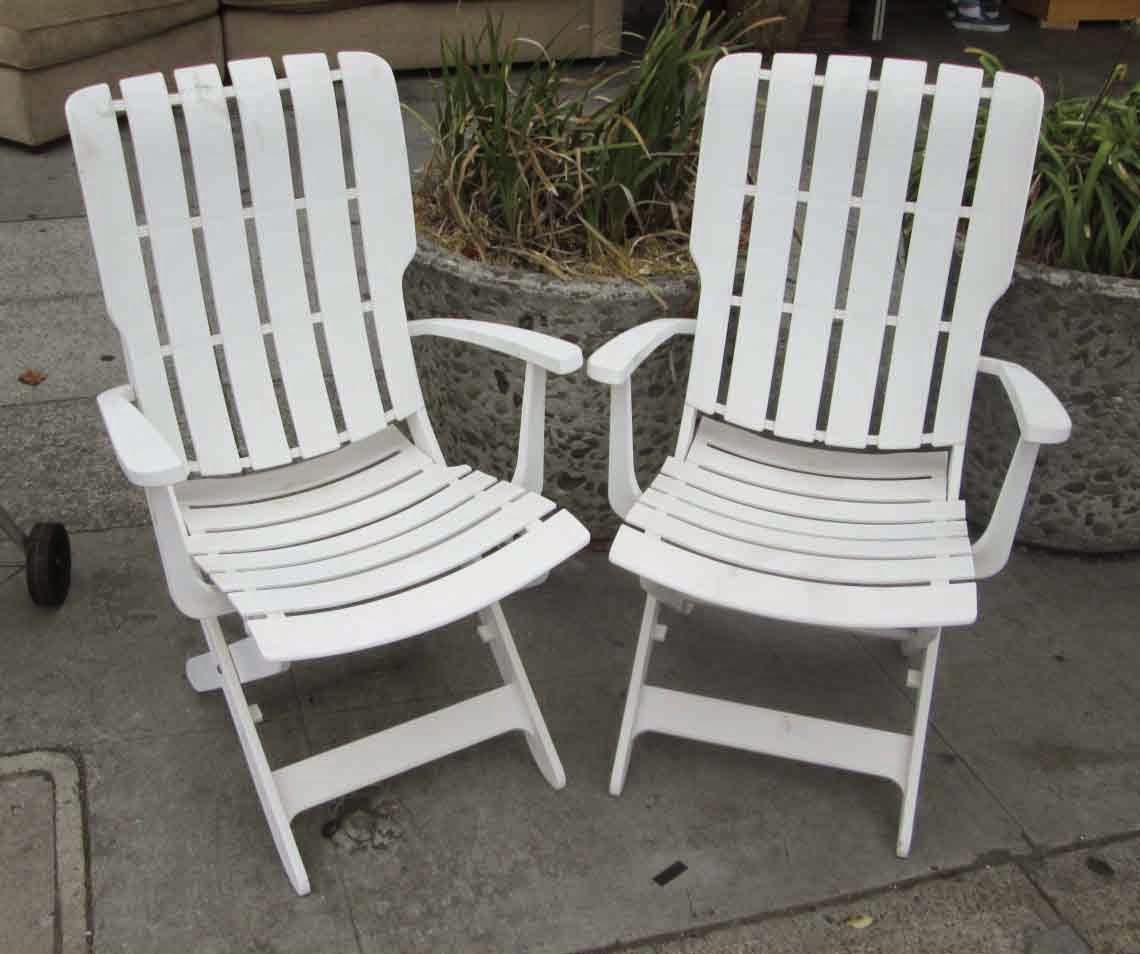 Elegant SOLD 2 Grosfillex Adjustable Patio Chairs   $80