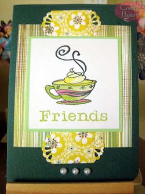 Handmade Card - Coffee and Friends