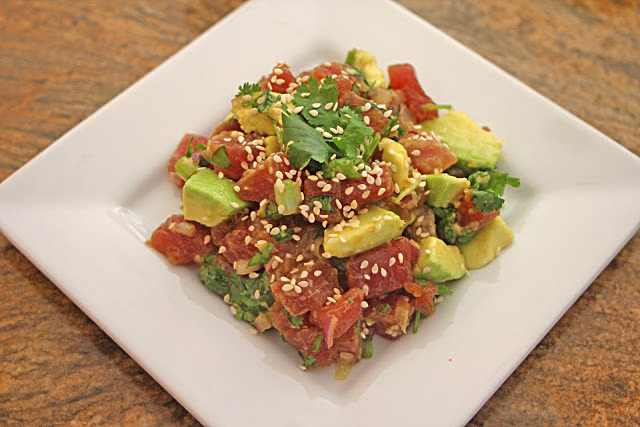 ... Grub Files: Cooking with Camissonia: Ar's Hawaiian Style Ahi Tuna Poke
