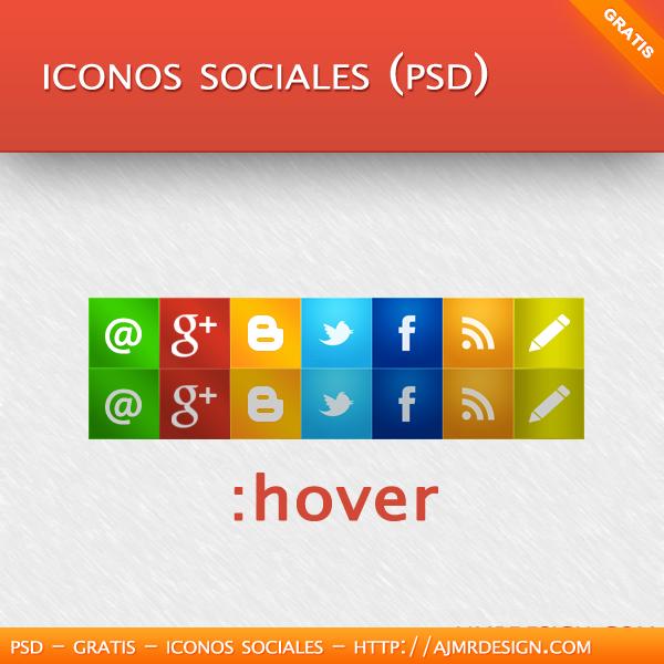 Iconos sociales (PSD)