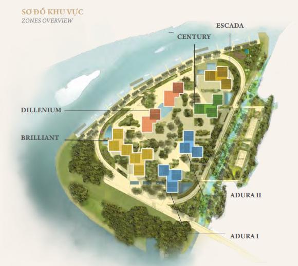 sơ đồ tổng quan khu bán đảo kim cương diamond island