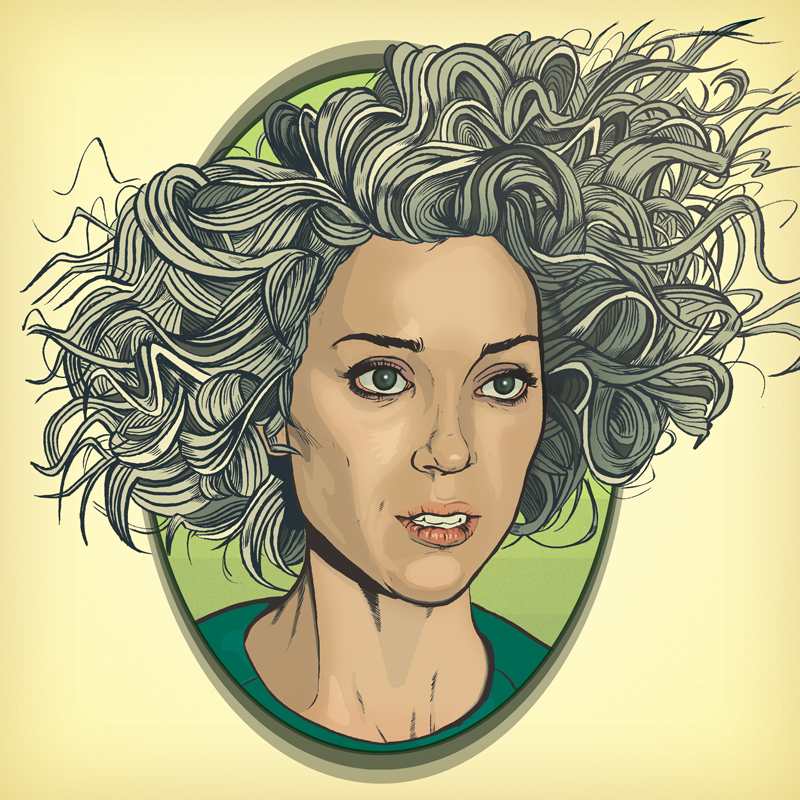 drawing of St Vincent Annie Clark