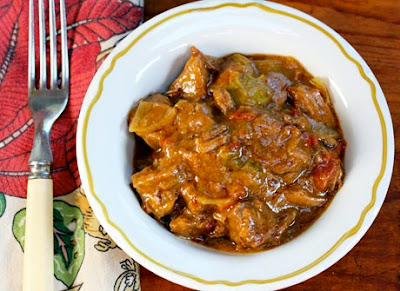 Slow Cooker Beef and Green Chile Stew