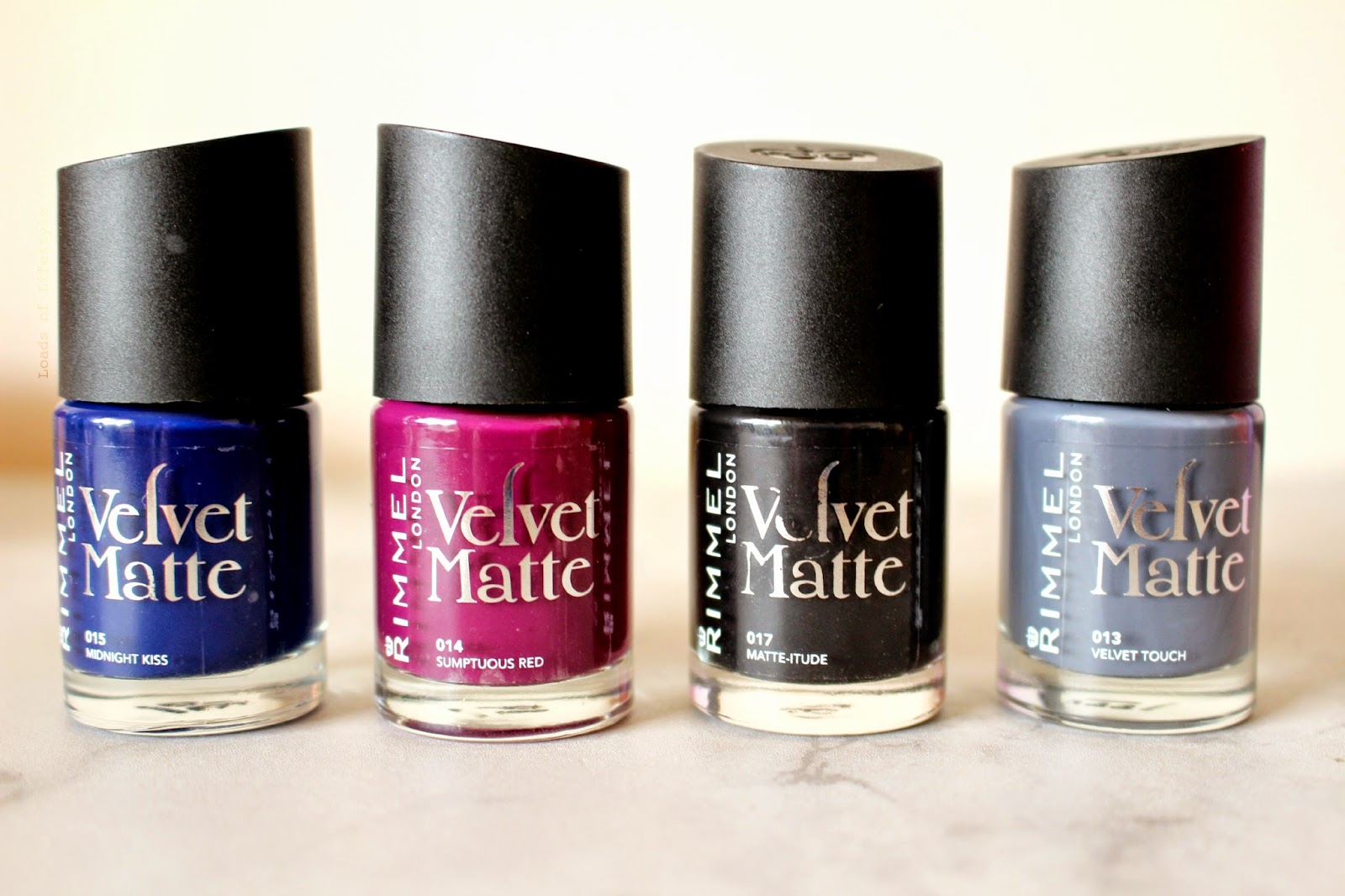 Matte Nails by Rimmel London Velvet Matte Nail Polish* - Loads of ...