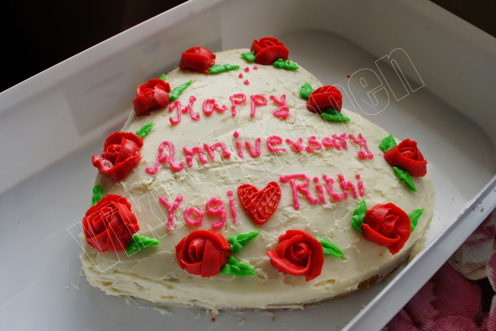 Viki s kitchen wedding anniversary cake for my friend