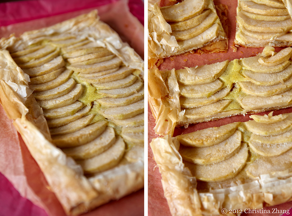 The following recipe makes 1 rectangular apple tart and 4 small pear ...