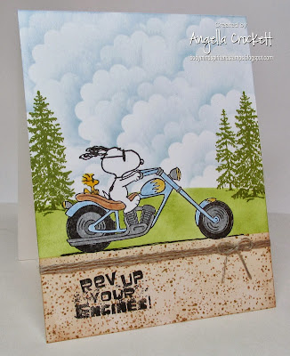 "ODBD ""Special Boy"" (sentiment), Snoopy's Chopper by Stampabilities, Card Created by Angie Crockett"