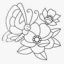 Mewarnai gambar bunga dan kupu-kupu untuk anak 12