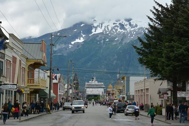Skagway Alaska Main Street cruise