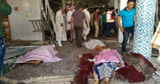 مقتل 30 شخصا فى تفجير مسجد الامام علي في القديح للشيعة السعودية  - القطيف