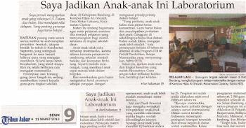 Koran Tribun Jabar  11 Maret 2013