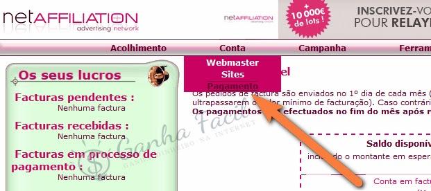 NetAffiliation pagamentos automáticos tutorial