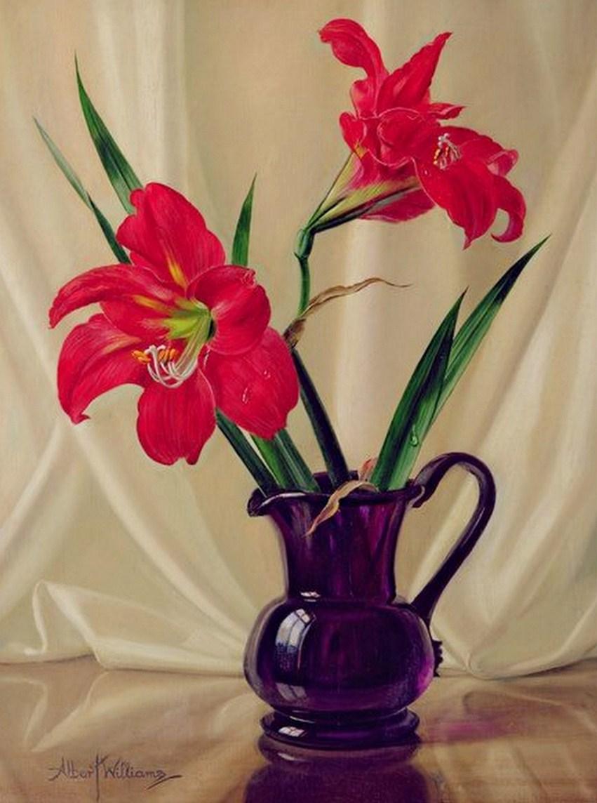Im genes arte pinturas bodegones floreros con jarrones - Fotos jarrones con flores ...