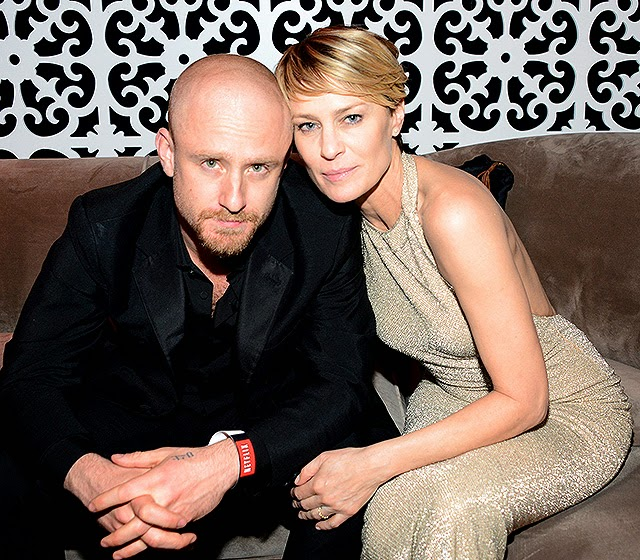 Robin Wright and her husband-to-be Ben Foster