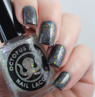 Octopus Party Nail Lacquer Prism Sentence (over Krait & Barrel) by Bedlam Beauty