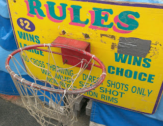 basketball hoop game at a carnival with rules