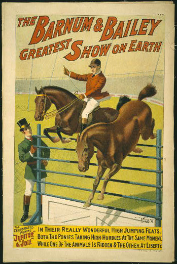 circus, classic posters, free download, graphic design, retro prints, vintage, vintage posters, The Barnum & Bailey Greatest Show on Earth, Jupiter & Joie - Vintage Circus Poster