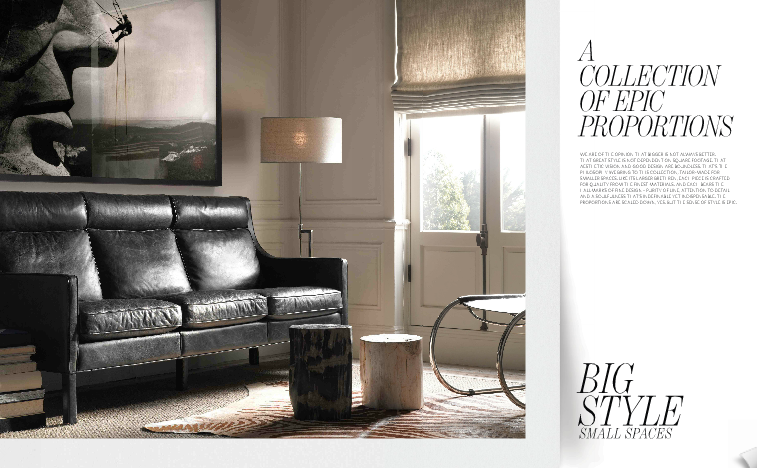 Big Style Small Spaces From Restoration Hardware - Jackcyn Redesign