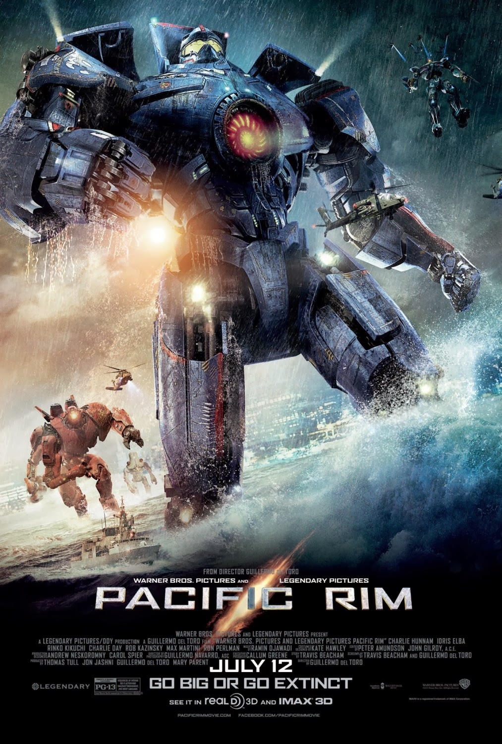 Pacific Rim, Directed by Guillermo del Toro, Movie Poster