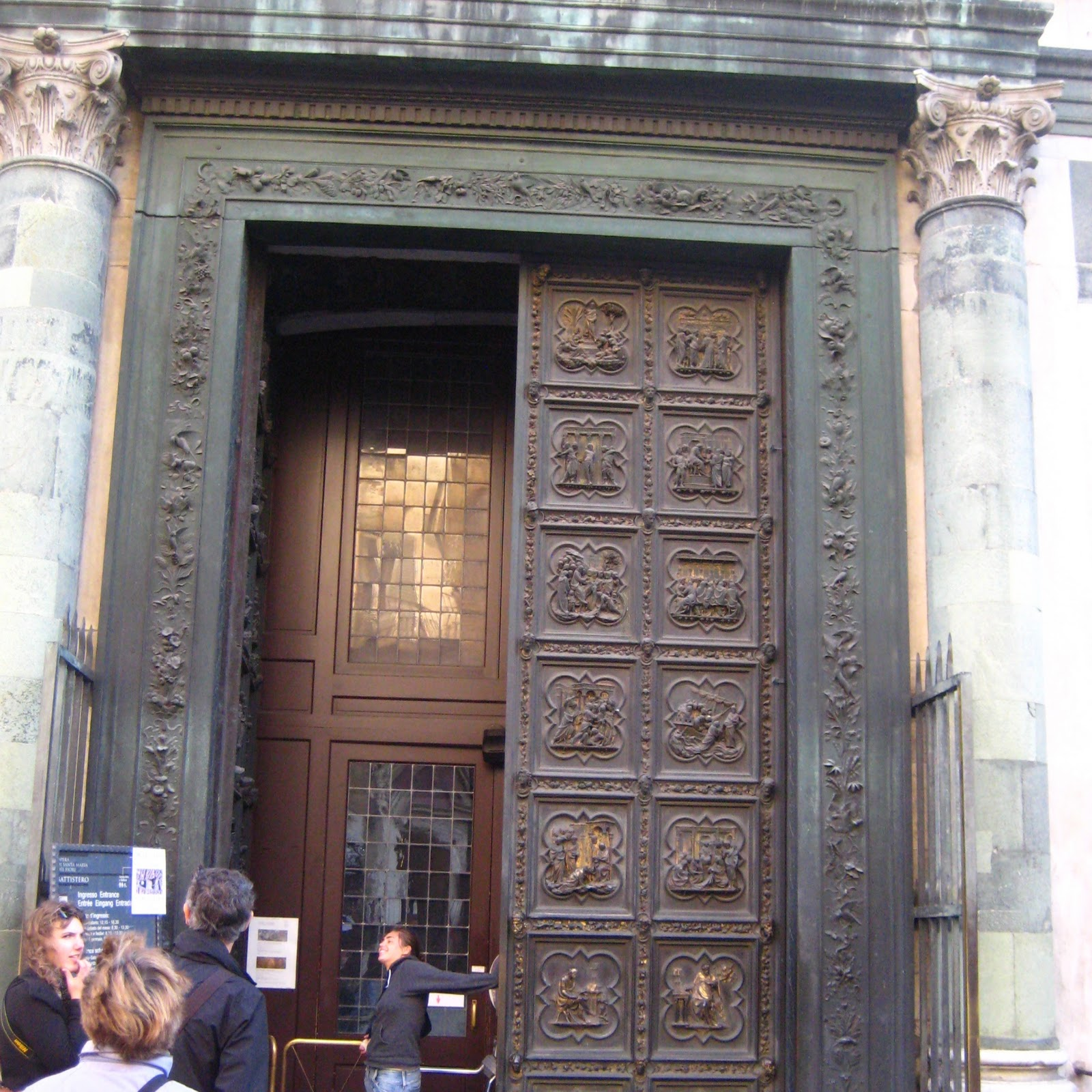 These are the bronze doors from the cathedral\u0027s baptistry from the competition of 1401! This is a big deal and it\u0027s mentioned in every art history course ... & But no matter the road is life.: Weekend Trip #4: Florence
