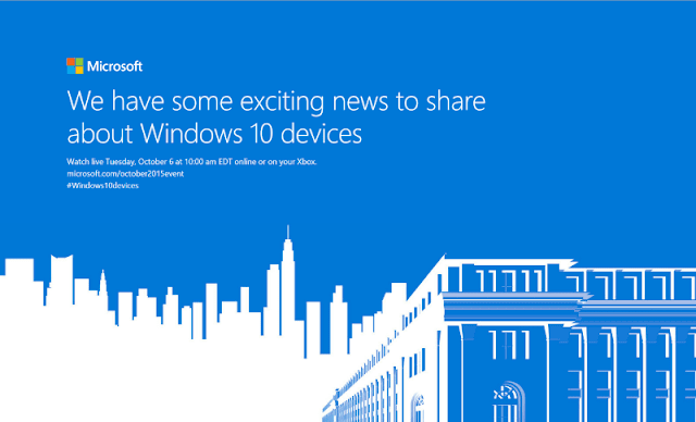 Microsoft October 2015 event