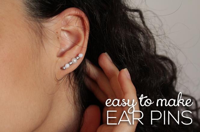 DIY Easy To Make Ear Pins
