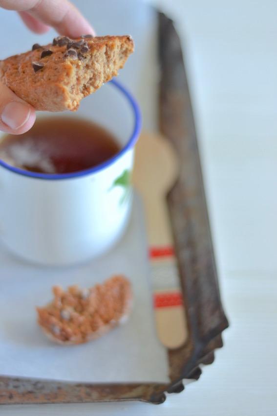 biscotti morbidi alle castagne, caffé e cioccolato