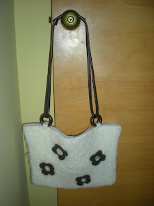 Blue Ribbon Felted Purse Back