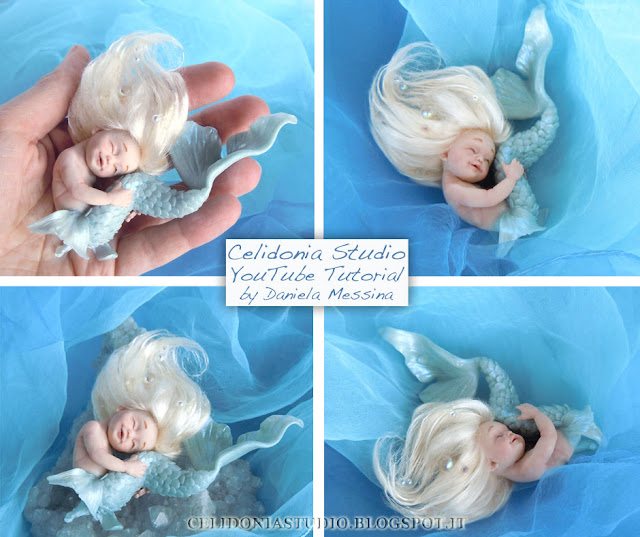 Sirena ooak - Polymer Clay Video Tutorial by Celidonia - Daniela Messina